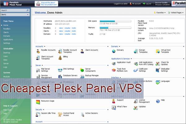 cheapest Plesk panel VPS