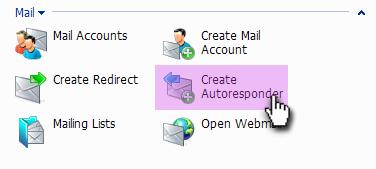 email autoresponder plesk