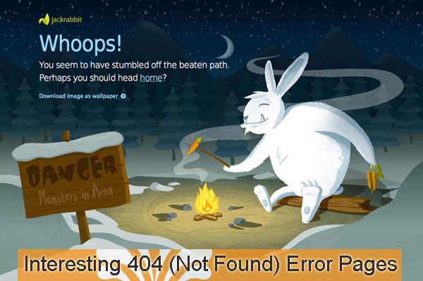 interesting 404 not found error pages