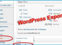 wordpress-export-content