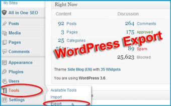 wordpress-export-content